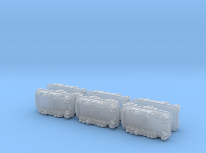 USN LCAC Landing Craft w. M1 Tanks 1/1800 3d printed