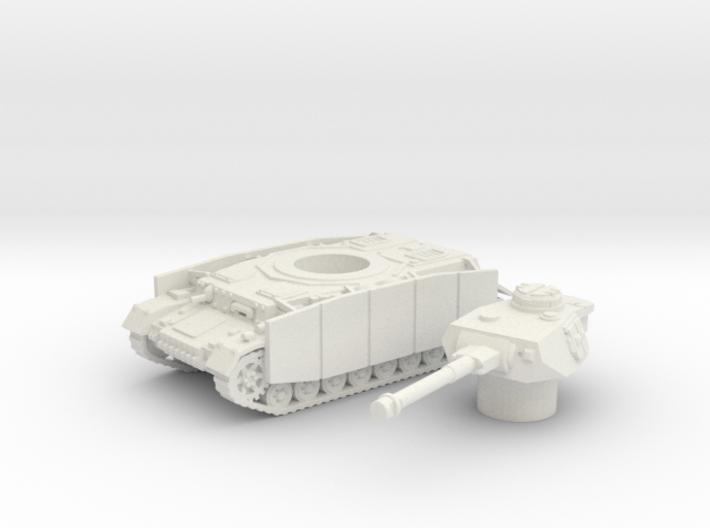 Pz.Kpfw. IV Ausf. tank (Germany) 1/100 3d printed