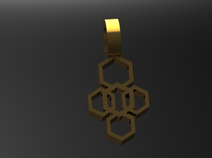 Mineral Pendant 3 3d printed