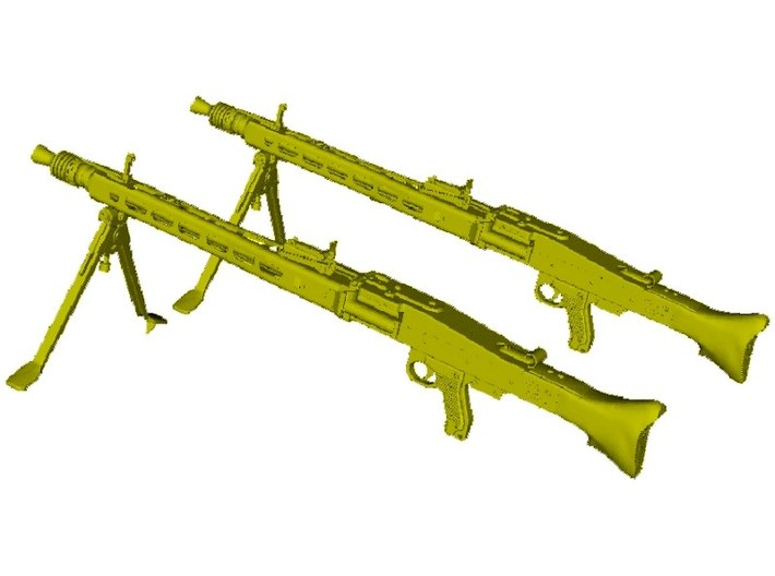 1/10 scale WWII Wehrmacht MG-42 machineguns x 2 3d printed
