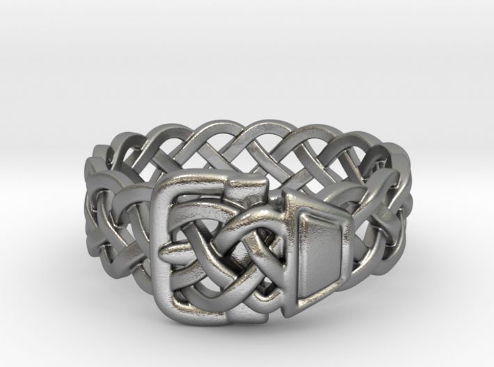 Braided Ring With Buckle 3d printed