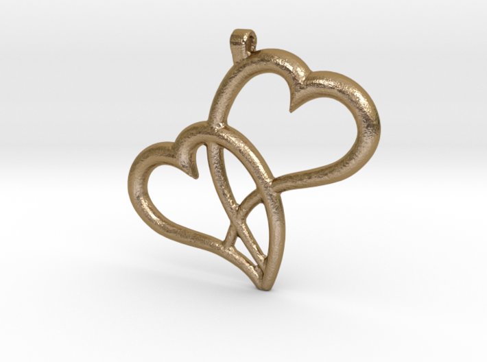Hearts Pendant 3d printed
