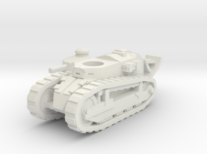 Renault FT tank (French) 1/100 3d printed