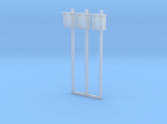 1/87 HO Scale B&M Telephone Boxes On Concrete Pole 3d printed
