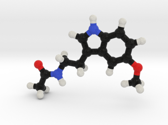 Melatonin Molecule Model. 3 Sizes. 3d printed