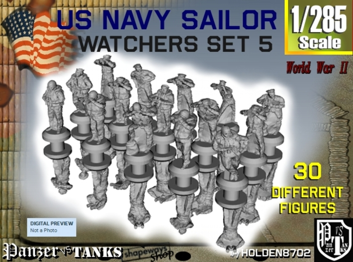 1-285 US Navy Watchers Set 5 3d printed