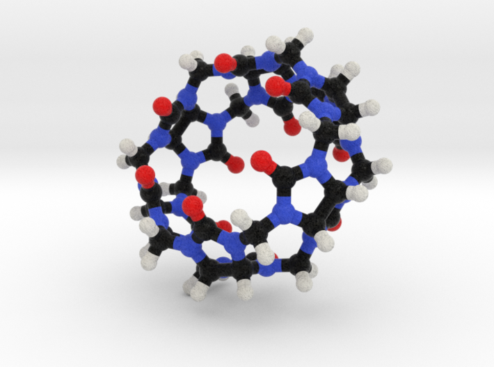 Cucurbituril Molecule Model. 2 Sizes. 3d printed
