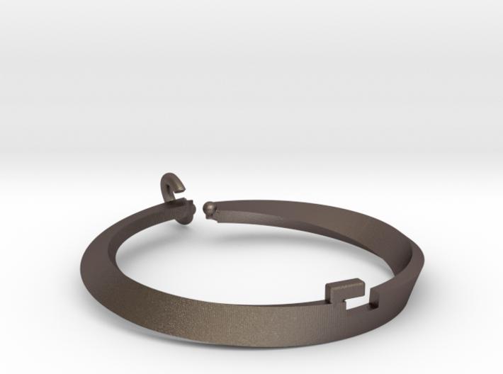 Mobius bi metal loop 3d printed