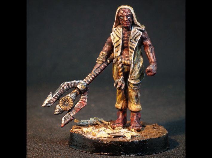 Simon - 28mm Mutant Sorcerer 3d printed