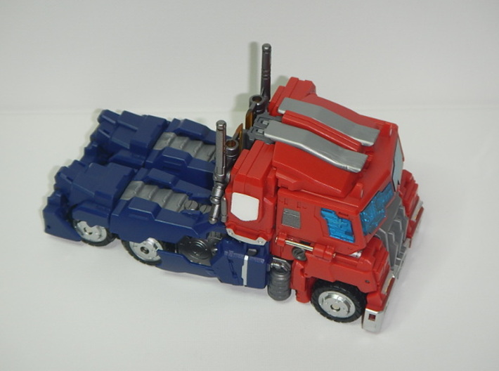 Striker Manus/Noir Faction Insignia Plates 3d printed Vehicle Mode, White Strong & Flexible Pictured