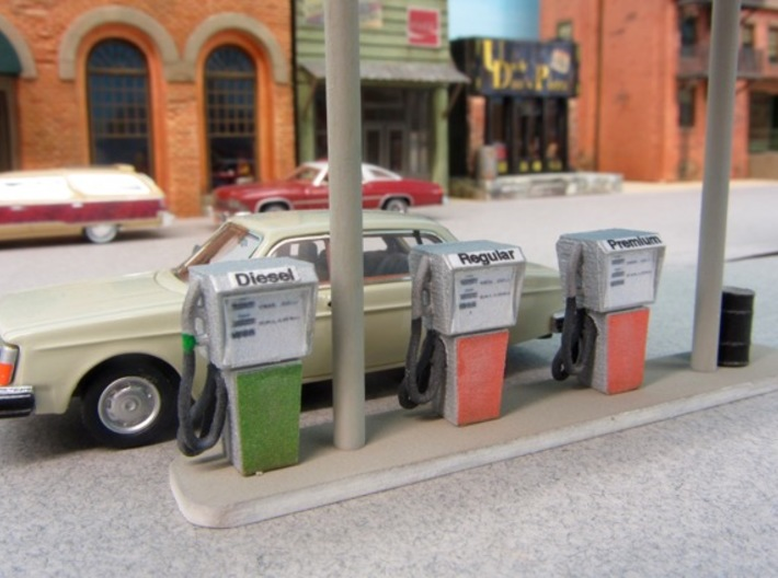 HO Vintage Gas Pump 3d printed Modeling by Peter DeAlba