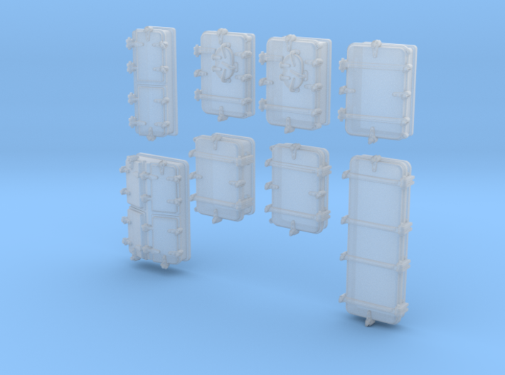1/200 Royal Navy Assorted Deck Hatches x68 3d printed 1/200 Royal Navy Assorted Deck Hatches x68