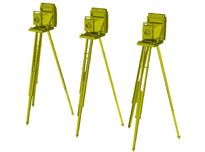 1/24 scale vintage cameras with tripods x 3 3d printed