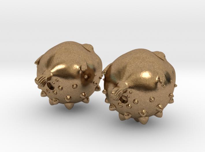 Blowfish Earrings  3d printed