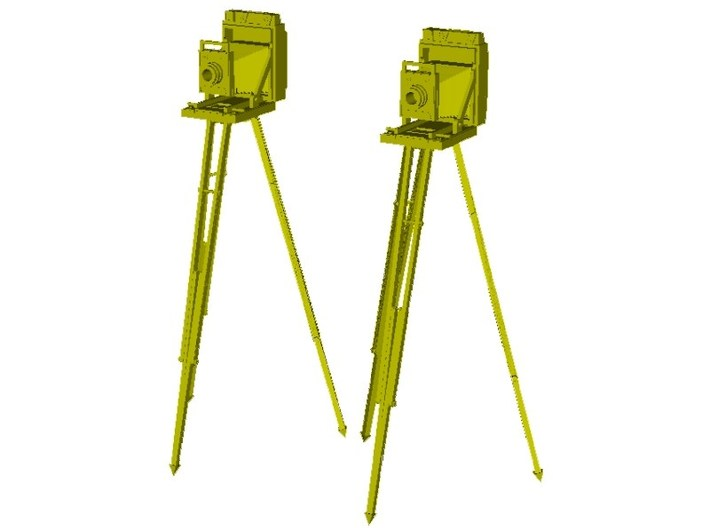 1/32 scale vintage cameras with tripods x 2 3d printed
