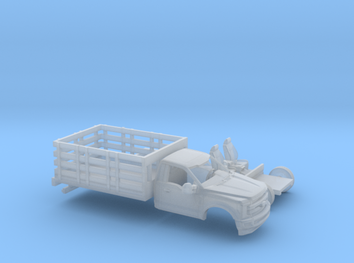 1/87 2017 Ford F-Series Reg.Cab Stakebed Kit 3d printed