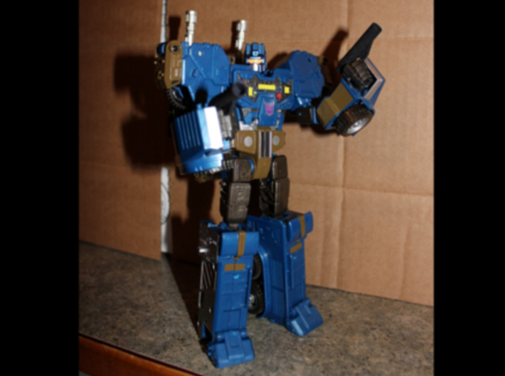 CW/UW Bruticus/Baldigus Cannon Extensions 3d printed Onslaught figure with cannon extensions as pistols