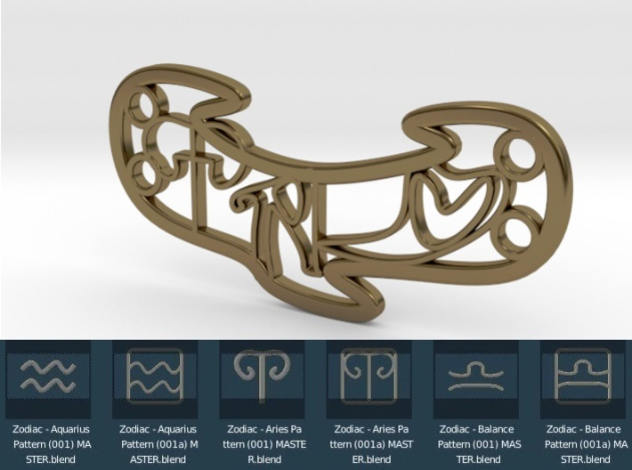 Personalised Astrological Love Bracelet 3d printed Personalised Astrological Love Bracelet