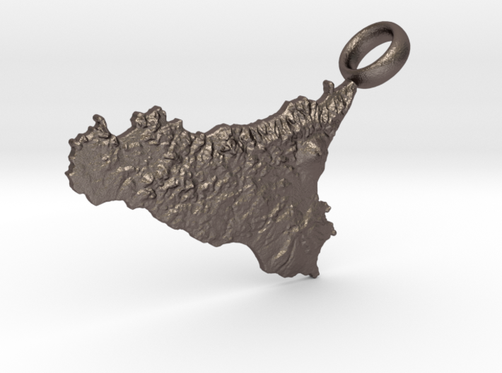 Sicily Realistic Keychain [with custom text] 3d printed