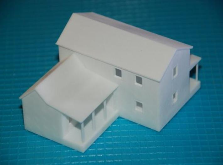 CBR Section Foreman House - Z Scale 3d printed Rear View