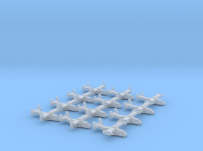 V-22 Osprey x 12, 1/1250 3d printed
