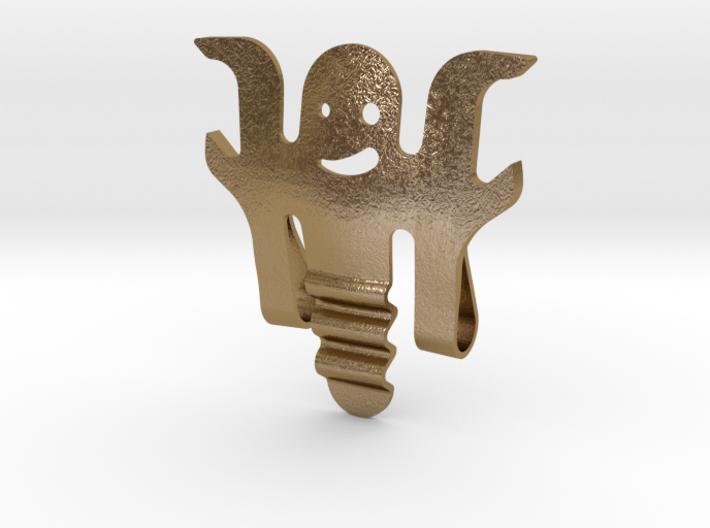 Earpiece cable winder wearable Bottle Opener 3d printed