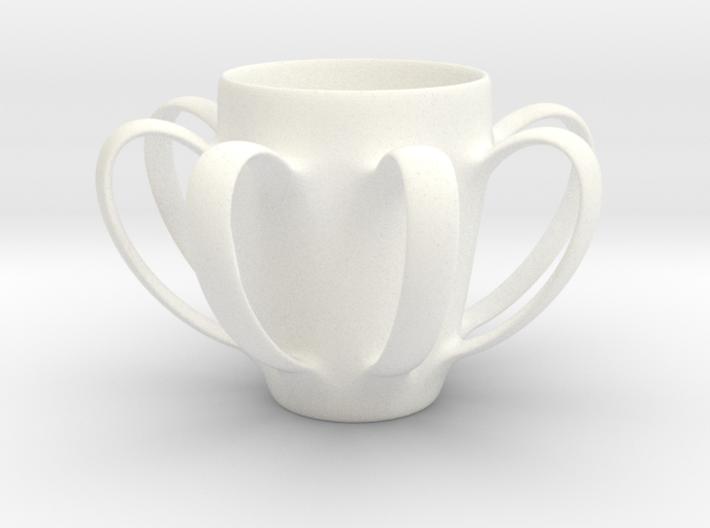 Coffee mug #4 XL - Many Handles 3d printed