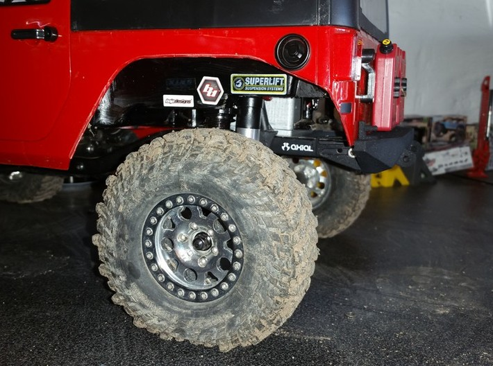 Rear Bumper with Shackles for AXIAL SCX10 3d printed