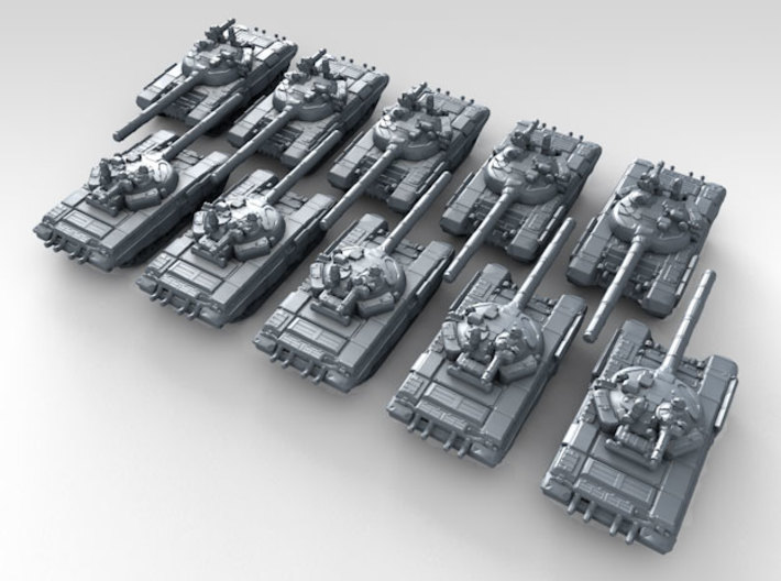 1/700 Russian T-72B3 Main Battle Tank 10 3d printed 3d render showing product detail