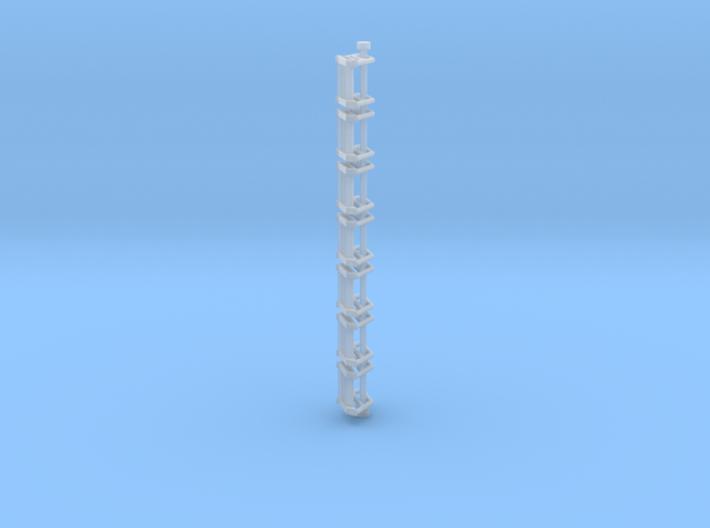 N Scale Stairs 3 (7 pc) 3d printed