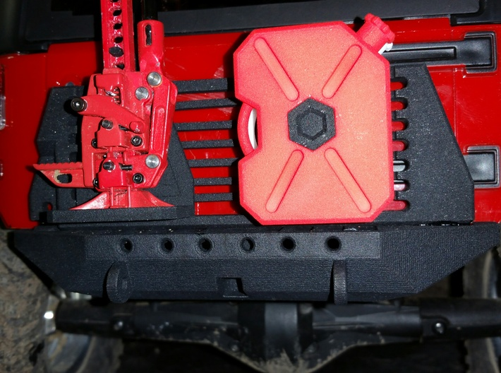 Rear Bumper with Hitch and Modular Carrier SMG002 3d printed