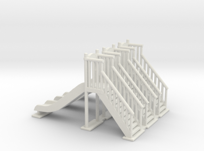 Playground slide 01. HO Scale (1:87) 3d printed