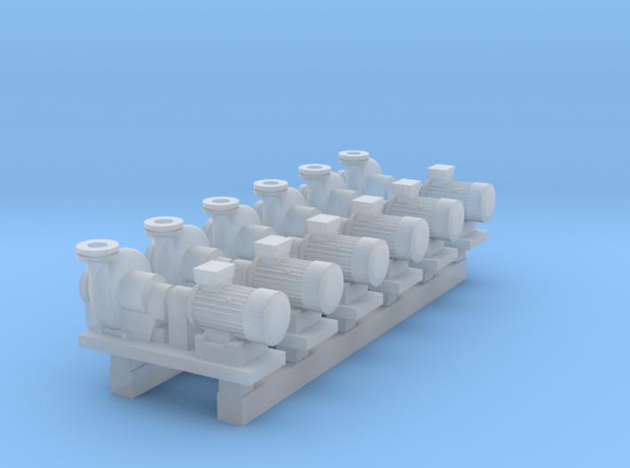 Centrifugal Pump #2 (Size 1 6pc) 3d printed