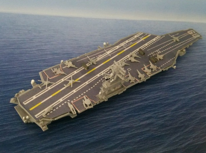 1/2000 USS Nimitz 3d printed painted and decal. Aircraft are not included in this model.