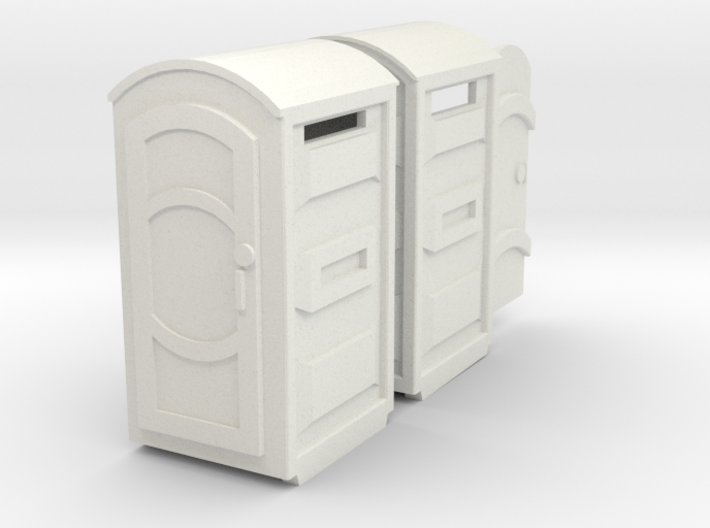 Port-a-Potty (x2) HO Scale 3d printed