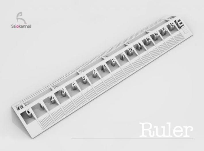 Too cool for school -Ruler 15cm/6inch 3d printed Ruler