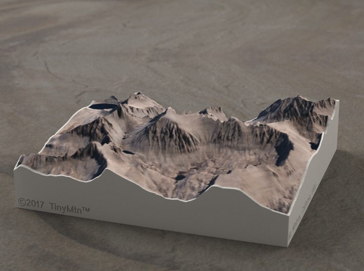 Mt. Whitney, California, 1:50000 3d printed
