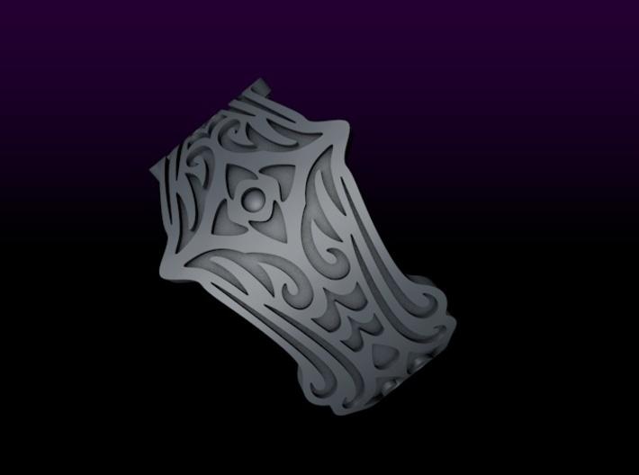 BlakOpal Tribal Goth Ring - size 8 3d printed