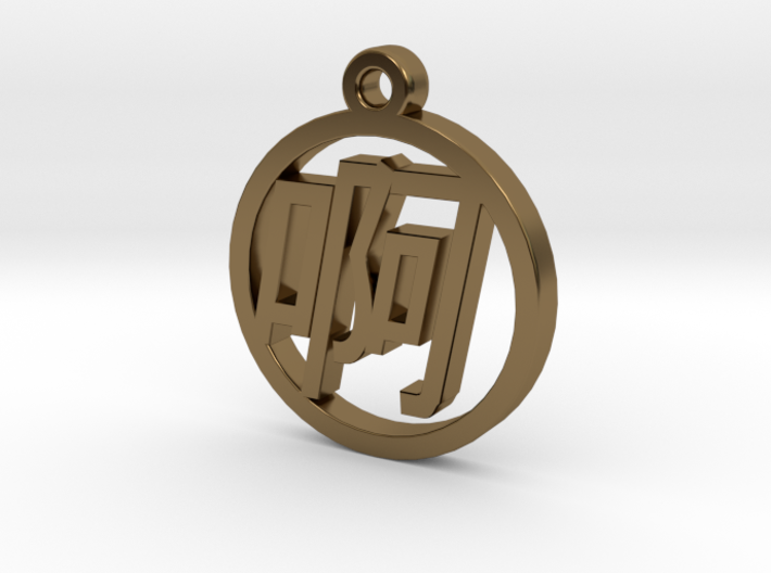 Chinese Font Charm - A 3d printed Chinese Font Charm - A
