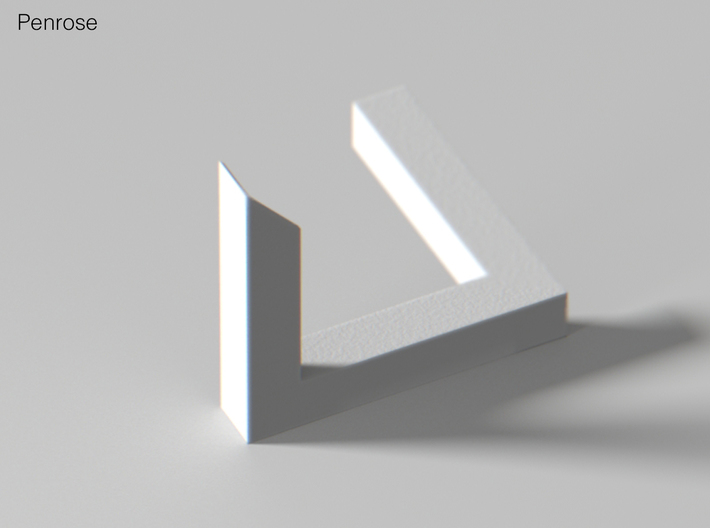 Escher Penrose Triangle 3d printed