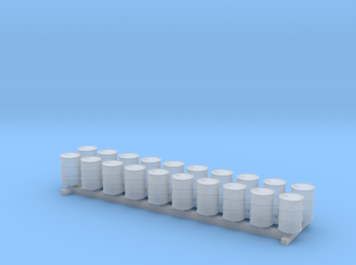 N Scale 55 Gallon Drums 20pc 3d printed