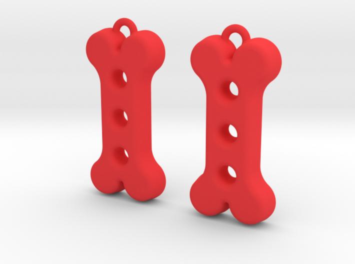 Dog Treat Earrings 3d printed