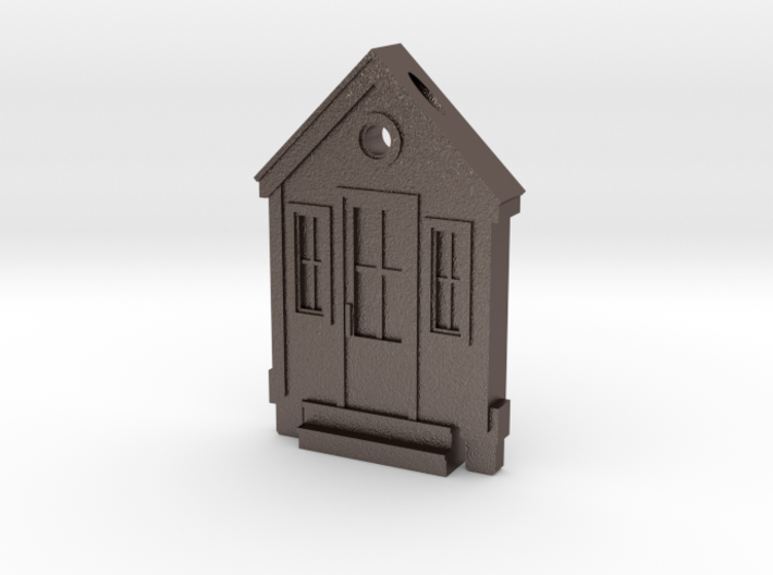 Tiny House Flat Embossed Pendant 3d printed