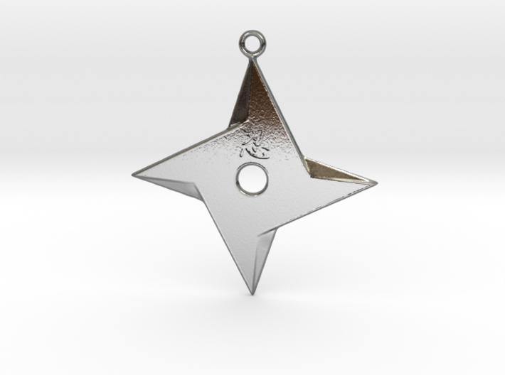 Ninja Star pendant 3d printed
