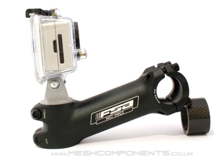 Bicycle Go-Pro Stem Mount 3d printed Mounted On Stem