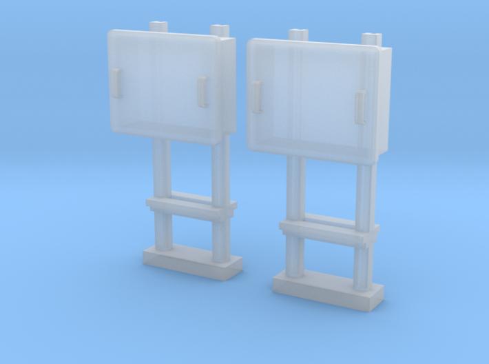 TJ-H04679x2 - Boitiers STM sur poteaux métalliques 3d printed