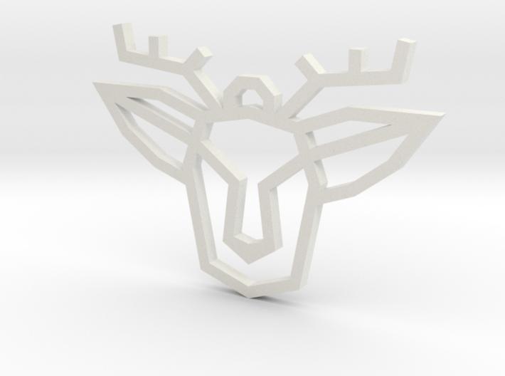 Geometric Deer Pendant 3d printed