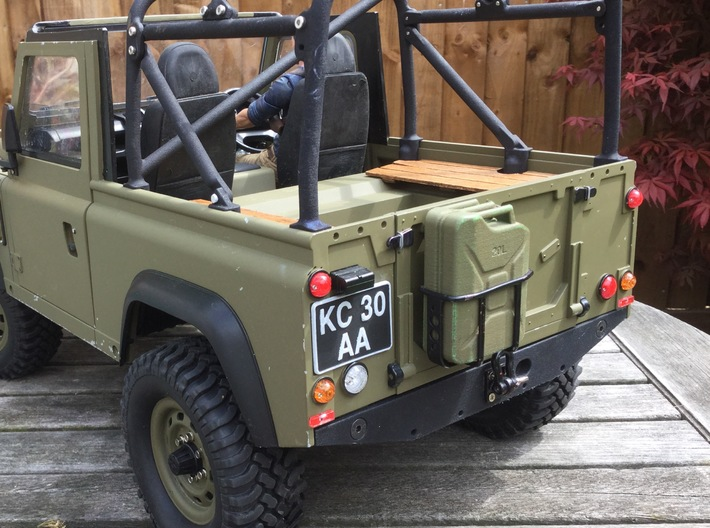 Crawler Scale Jerry Can Metal Rack 3d printed