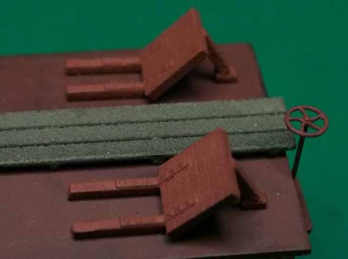 HO scale Reefer Hatches (open) x4 3d printed