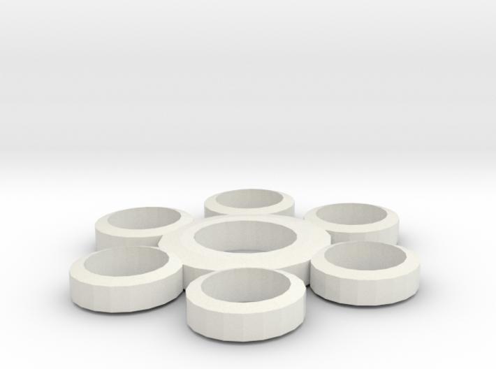 Fidget Spinner (6 point) 3d printed